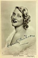DOROTHY DICKSON ACTRESS SIGNED REAL PHOTO POSTCARD RPPC