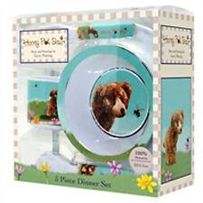 Honey Pot Bear 5 Piece Melamine Dinner Set -  boy girl child children- BPA FREE
