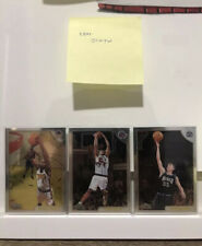1998-99 Topps Chrome VINCE CARTER, JASON WILLIAMS, ANTAWN JAMISON RC (LOT of 3)