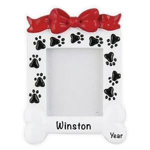 Dog Photo Frame Personalized Ornament