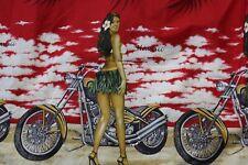 Royal Hawaiian Creatin Made Hawaii Hoola Girl Motorcycle Men Shirt XL
