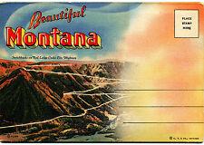 """Mt Montana: """"Souvenir Folder - Beautiful Montana"""" by Curteich Unposted Linen Era"""