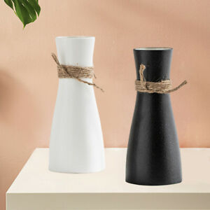 Ceramic Flower Vase with  Rope Art Home Bouquets Vases Tabletop Decor