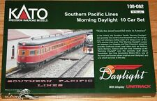 KATO 106-062 N SOUTHERN PACIFIC MORNING DAYLIGHT 10 CAR SET WITH DISPLAY UNITRAC