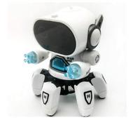 Intelligent Dancing Robot/Music Gesture-Sensing/six legged/ Smart Robot (WHITE)