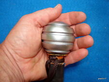 black APPLE SHILLELAGH/cane walking-stick silver resin knob [faux blackthorn]