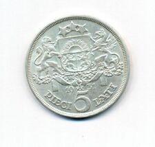 Latvia 5 Lati 1931 KM# 9 Silver Coin