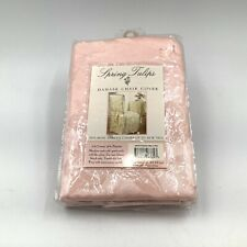 """Spring Tulips Damask Fabric 42""""  Armless Dining Room Chair Cover in Pink NEW"""