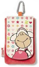 Nici 36354 - Handytäschchen Jolly Frances, Plüsch, 9 x 13.5 cm Rosa