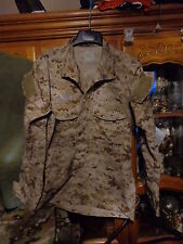 AOR1 NWU DESERT TYPE 2 SHIRT Navy W/ NAVY ACE LARGE  LONG  ISSUED  USN