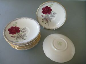Royal Staffordshire Roses to Remember Red - Saucers ONLY for Tea Cups (1 to 10)