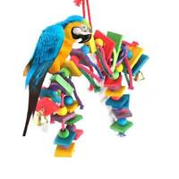 Wooden DazzleParrot Pet Bird Toys Perch Budgie Cockatiel Chew Hanging Swing Cage