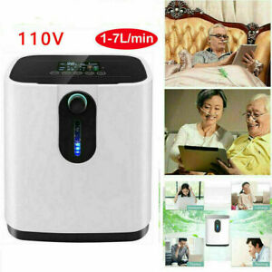 1-7L/min Portable 02 Home Concen-trator Generator Machine Air Purifier 110V