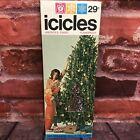 "Vintage ICICLES Silver 18"" Long Christmas Holiday Tinsel Marathon Franke Co USA"