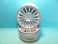 Cen G84257 16 Spokes Silver 1/10 Touring Car Wheels 12mm Hex Wheels 2pcs