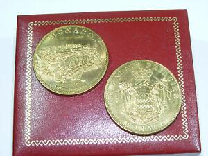 Lot de 2 médailles MONACO Rocher Palais Princier 2009 2010 Arthus-Bertrand