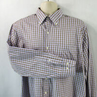 Peter Millar Men's Shirt, Large, Pre-owned, Long Sleeve,100% Cotton, Button Down