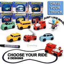 Magic Smart Inductive Train Fire Truck Car Follow Any Line You Draw Boy Kid Toys