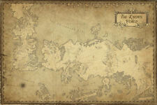 "Game of Thrones  ( 11"" x 16-1/4"" ) Map Collector's Poster Print - B2G1F"