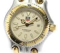 TAG HEUER S/el S95.715 Date beige Dial Quartz Ladies Watch_564397