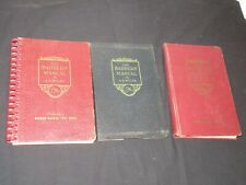3 VINTAGE BARBERS MANUAL BY A.B. MOLER BARBER SCHOOL TEXTBOOK HAIRCUTTING+
