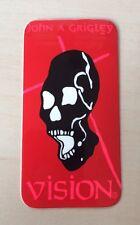 Vision John A. Grigley Old School / NOS Skateboard Sticker Skate 80's Skull Rad!