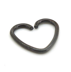 18g 10mm Heart Shape Titanium Cartilage Daith Steel Jewelry Ring Earrings Rings
