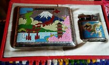 occupied memories of japan lighter/cigarette case in case unused circa 1950 RARE