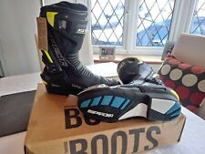 SPADA Curve EVO Waterproof Leather Motorcycle Motorbike BOOTS Flo Yellow Size 8