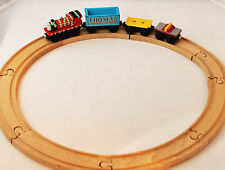 Thomas the Tank Engine & Friends Wooden Railway 4 Cars & Tracks Limited Edition