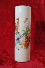 """Gorgeous! Vintage Asian Glass Umbrella Holder Vase Warrier Sword Serving 12 3/4"""""""