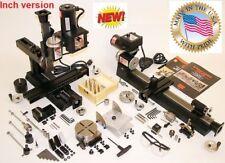 Sherline 6200-CNC Ultimate Machine Shop + CNC driver Box 5 motors MACH34 ready