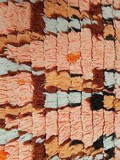 Vintage Moroccan Berber Boucherouite runner rug 200 x 85 cm