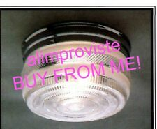 NEW Drum CHROME Vintage GLASS Retro CEILING LIGHT FIXTURE 8