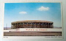 1950's POSTCARD PLAZA DE TOROS BULL RING TIJUANA BAJA CALIFORNIA MEXICO