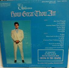 """Young ELVIS PRESLEY   """"HOW GREAT THOU ART""""   RCA  LSP-3758 Record  LOOK"""
