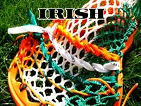 Lacrosse Money Mesh Irish flag. Orange, White & Green Retired very hard to find