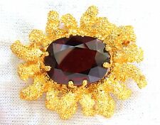 █$25000 GIA 32.22CT NATURAL SPESSARTITE GARNET 3D OCEAN CORAL / ROUGH NUGGET PIN