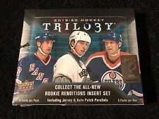 NEW AND FACTORY SEALED 2019/20 UPPER DECK TRILOGY HOCKEY HOBBY BOX