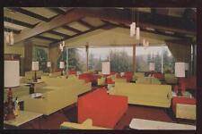 Postcard SANTA CRUZ CA St. Clare's Lounge 1950's