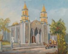 "COLORFUL PAINTING BY COLORADO ARTIST JUDGE EDWARD J. HUMMER ""MISSION II"" MEXICO!"