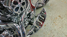 CHROME BILLET DEEP CUT FLOORBOARDS  80-16 Harley Bagger & FL Softail, FLT,FLH,