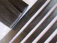 10 Meter SCHRÄGBAND Schwarz Satin Borte 1,5cm Spitze Elegante BA 025