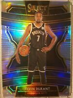 KEVIN DURANT 2019-20 Panini Select Silver Prizm Concourse #65 - Brooklyn Nets