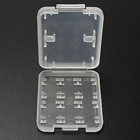 8 Slot Plastic Storage Holder Carrying Box Case For Micro  MS Memory Card Gift