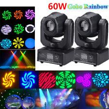 2PCS 60W RGBW LED Gobo Moving Head Spot Stage Lighting DMX Disco DJ Party Light