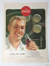 Original Print Ad 1953 COCA-COLA Coke Tennis Drink Game Set coke Sports