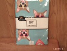New Pembroke Welsh Corgi Tablecloth Blue Back Round Cute Corgi Heads W/ Glasses