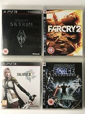 PS3 Game Bundle Skyrim 5+Far Cry 2+Final Fantasy 13+Star Wars Force Unleash-1028