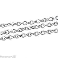 Wholesale 5M Stainless Steel Cross Chains Diy Necklace Fashion Jewelry